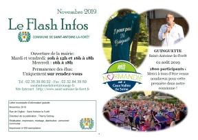 Couverture Flash Infos – Novembre 2019